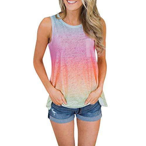 B-COMMERCE Damen T-Shirt Top mit Brief Kurzarm Ladies Sommer Shirt Tee Rundhalsausschnitt Print - leicht und luftig - sehr angenehm zu Tragen -