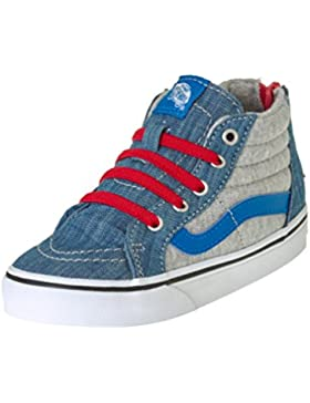 Vans Toddler Sk8-hi Zip (jersey Denim) Imperial Blue/true White