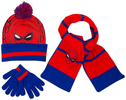 Disney- cappello bimbo inverno sciarpa guanti spiderman marvel avengers paw patrol frozen cappelli bimba invernali (spidermancompleto)