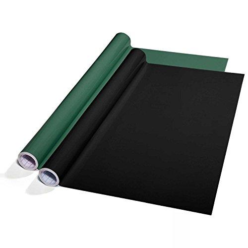 Tafelfolie Set selbstklebend | 60x300cm | Sieger Preis-Leistung | zwei Farben wählbar (schwarz)