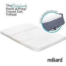 Milliard Cuna de Viaje/Maleta y Jugar colchón, se pliega en Bolsa de Transporte