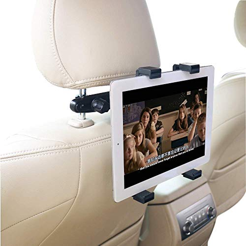 KFZ-Halterung für Tablet Kopfstütze 360 ° Grad verstellbar drehbar Kopfstütze Auto Sitz ount Halter Automarke Universal für iPad, iPad Air, iPad Mini, Samsung Galaxy 17,8 cm to12.9 Zoll Tablet