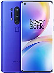"OnePlus 8 Pro Smartphone Ultramarine Blue, 6.78"" 3D Fluid AMOLED Display 120Hz, 12 GB RAM + 256 GB Memoria, Fo"