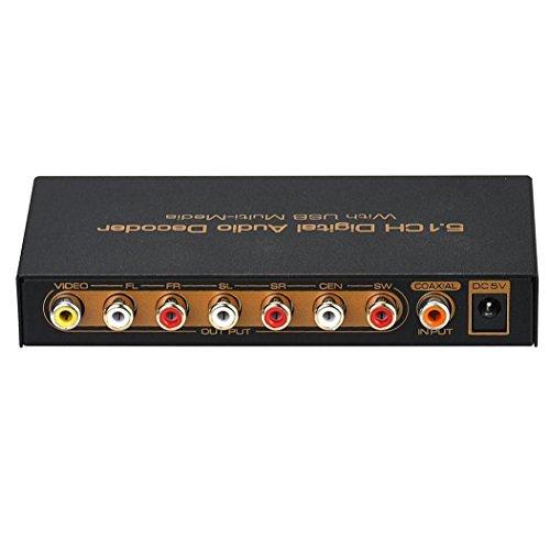 Koly HDMI a HDMI VGA SPDIF de 5.1 canales RCA digital multicanal del descodificador de audio con USB