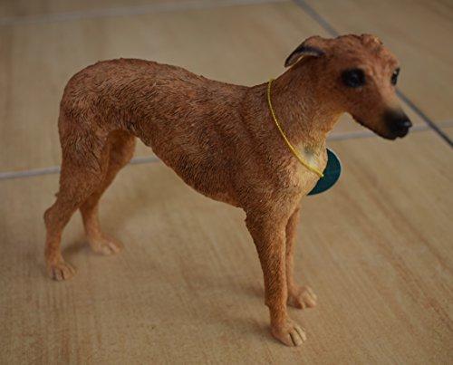 Lurcher adorno de perro figura en resina por Leonardo perro estudios