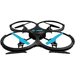Twodots TDFT0005 dron con cámara - drones con cámara (Negro, Azul, Hacia atrás, Adelante, Turn left, Turn right, Upward, 1280 x 720 Pixeles, 1280 x 720 Pixeles, AVI, AA)