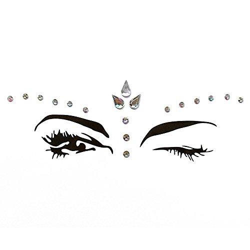 Anself DIY Adhesive Gesicht Edelsteine Strass Temporäre Tattoo Jewels Festival Party Körper Glitter ()