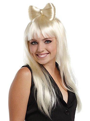 d oder Licht pink Haarschleife Lady Gaga Nicky Minaj PROMI KOSTÜM PERÜCKE - blond, One size, Einheitsgröße (Sexy Promi Kostüme)