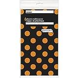 Plastica arancione e nero pois Halloween tovaglia, 2,7x 1,4m
