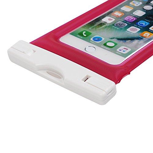 Custodia Impermeabile - STXMALL Cover Impermeabile Universale 6 Pollici Waterproof Cover Subacquea Case Impermeabile con Borsa Pouch per iPhone 7(Plus), 6s/6(Plus), 5/SE/5S/5C, per Samsung Galaxy A5/A Rosa Caldo