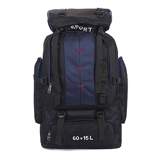BM Moda per uomini e donne 75L viaggio-turismo escursioni zaino outdoor snack bag , red deep blue