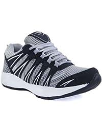 Century Men Outdoor Synthetic Mesh Anti Skid Running & Sports Shoes, Black/ Grey