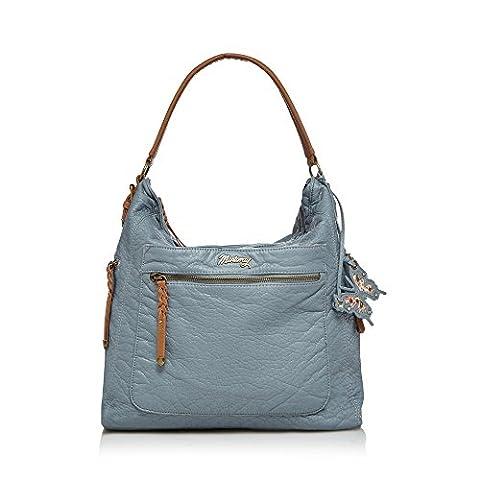 Mantaray Womens Mid Blue Woven Shoulder Bag
