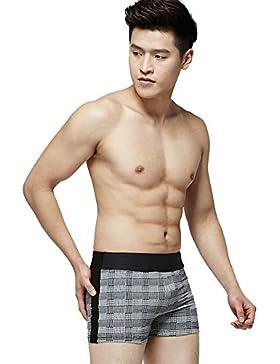 Xiaoqin Traje de Baño de los Hombres Cortos del Boxeador Traje de Baño de los Hombres Adultos Traje de Baño Deportivo...