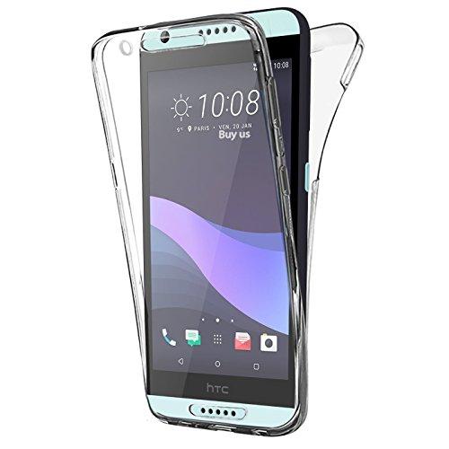 BUYUS® HTC Desire 650 , Hülle Silikon Crystal Vorne und Hinten Schutzhülle 360° Full Body Cover TPU Ultra dünn Case