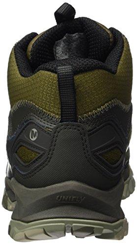 Merrell Capra Bolt Mid Gore-Tex, Scarpe da Arrampicata Uomo Multicolore (Dark Olive)