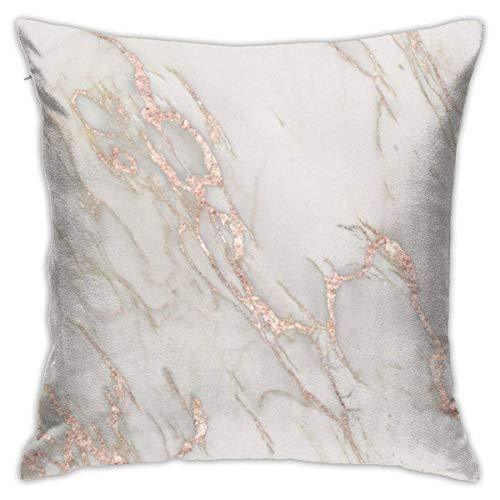 vers Home Decor Pink Marble iPhone Fall und Dekokissen Design Kissenbezüge mit Zip Cotton Pillow Protector Sofa Kissenbezug 18 x 18 ()