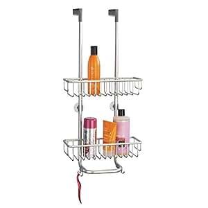 Mdesign mensola doccia per porta perfetto portashampoo e portasapone doccia per bagnoschiuma - Porta bagnoschiuma per doccia ...