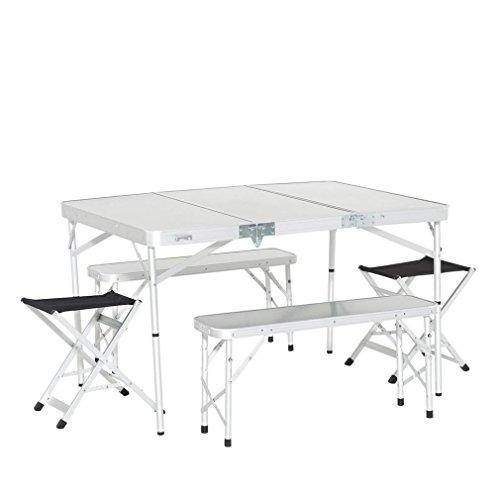 Eurohike Familie Picknick-Tisch-Set, Weiß, Einheitsgröße -