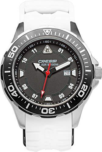 Cressi Manta Watch Reloj Submarino, Adultos Unisex, Negro/Blanco, Talla Única