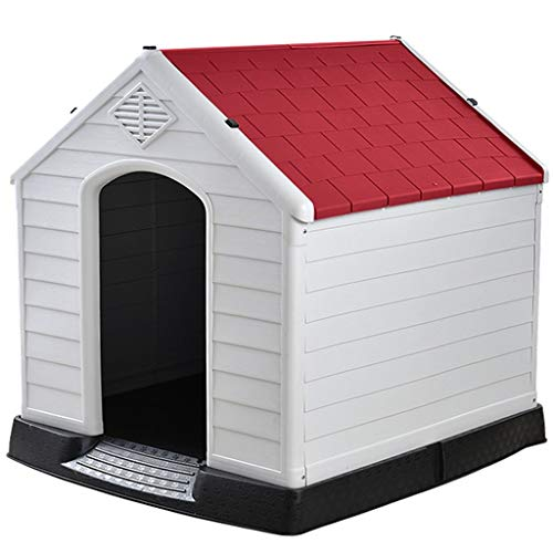 JOYZD Zwinger Hundehütten Zwingerabdeckungen Haustier Hundehütte Haus, Haustierbedarf drinnen und draußen Hundezimmer Katzennest, Robuste Hundehütte (Color : Red, Size : 73.6 * 66.5 * 69.5cm)