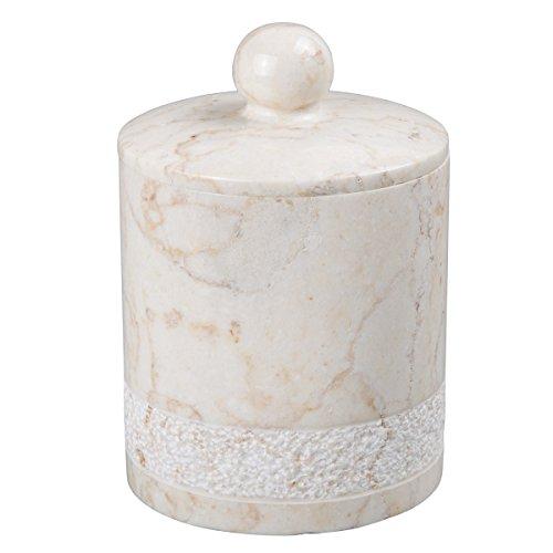 Internationale EVCO 74633 Champagne Marble Spa Hand geschnitzte Cotton Ball Holder Cotton Ball Holder