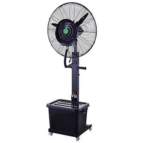ZRFANS Klimaanlage Fan Elektrische Oszillierende 3 Geschwindigkeit Sockel LüFter Outdoor Industrielle Beschlagen Spray Luftbefeuchter 42l Wassertank (Schwarz) (Oszillierende Lüfter Sockel)