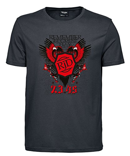 makato Herren T-Shirt Luxury Tee Judgment Day Dark Grey