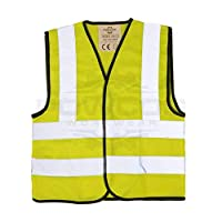 POWCOG® High Visibility Childrens Safety Waistcoat Vest Jackets - Perfect for Travelling in Europe, Car Breakdowns, School Trips, Cycling - 3