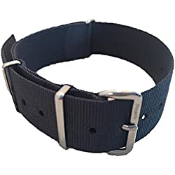 NATO G10 Nylon Watch Strap by Phoenix Straps Classic NATO Grey 18mm