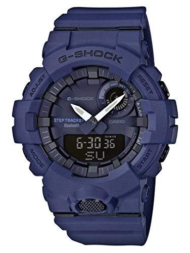 Casio G-Shock Analog-Digital Herrenarmbanduhr GBA-800 blau, Schrittzähler, Bewegungssensor, kostenlose Fitness-App zum Download, 20 BAR (Shock Uhr Casio Blau G)