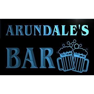 w149364-b ARUNDALE Name Home Bar Pub Beer Mugs Cheers Neon Light Sign