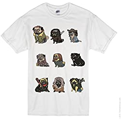 Camiseta The Walking Dead Pug - Cuello redondo - Hombre blanco blanco Large