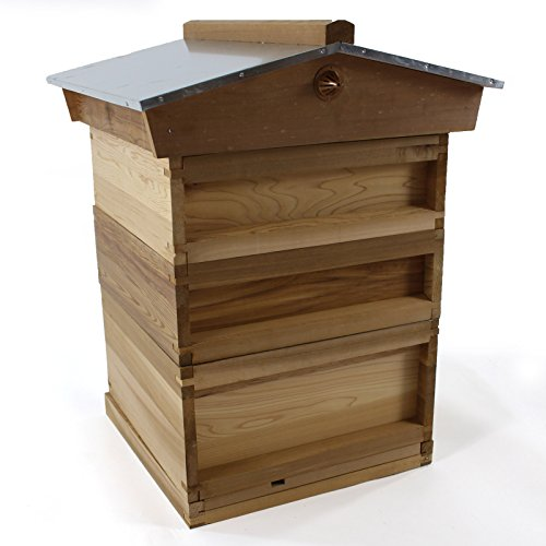 National Bee Hive with Gabled Roof in Cedar by Easipet 266 Test