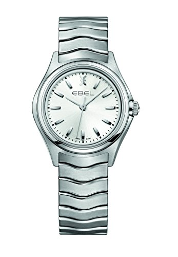 Ebel Women's Quartz Watch with Silver Lever Wave Lady Analog Quartz Stainless Steel 1216191