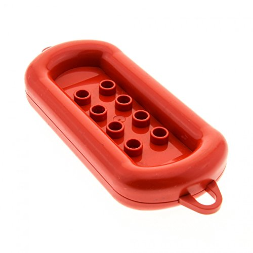 1 x Lego Duplo Boot rot Schlauchboot Gummiboot Schiff Boat Rubber Raft Set 2618 dupraft
