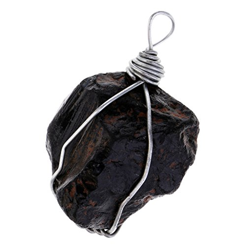 Homyl Colgante de Piedra Turmalina Negro Natural...