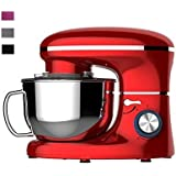 Heska -1500W Food Stand Mixer - 4-In-1 Beater/Whisk Dough Hook Flex Edge 5. 5 Litre Mixing Bowl With Splash Guard (Red)