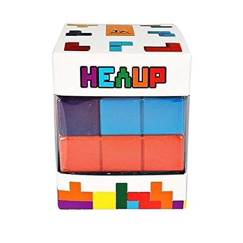 SainSmart Jr. Bauklötze Holzpuzzle 7 farbige Soma-Würfel Tetris mit Tasche, Denkspielzeug, Lernspiel