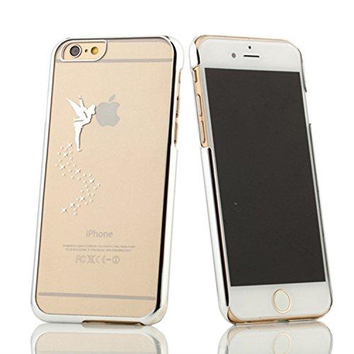 Coque iPhone 6 Plus/6s Plus , iNenk® Esprit créatif Fée Ange Laser sculpture Cherub Transparent téléphone Mode affaire Shell dur PC protection manchon d'électrodéposition-rose Blanc