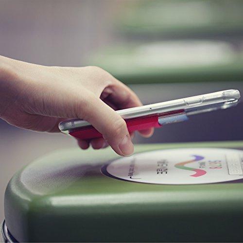 Sinjimoru B2 Smart Wallet (aufklebbarer Kartenhalter), verwendbar als iPhone Wallet / Handy Geldbeutel / Kartenetui für iPhones, iPhone Cases, Android Smartphones. Sinji Pouch Basic 2, Beige. Schwarz