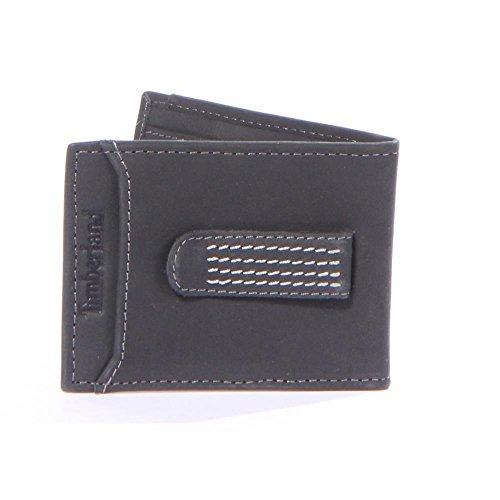 Timberland Icon Flip Clip Black 100 Genuine Leather Wallets Men