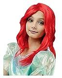 Horror-Shop Rote Seejungfrau Kinderperücke