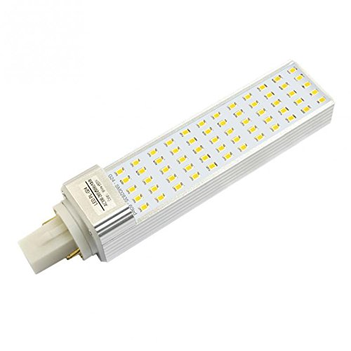 Ledbox LD1033018 Bombilla LED G24 (2 pin), 12W, Blanco Cálido, 35x164x35mm