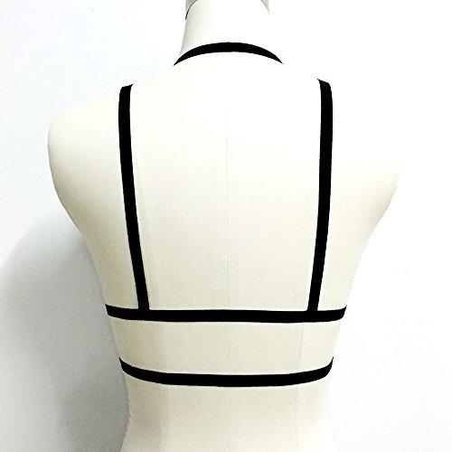 Add Health Damen Pentagramm Harness Strappy Geschirr Pentagramm Knechtschaft BH 117 Black