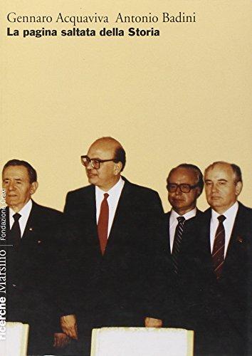 La pagina saltata della storia (Ricerche. Fondazione Craxi) por Gennaro Acquaviva