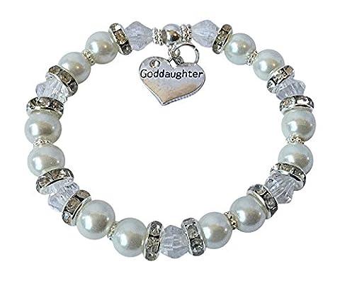 Elegant GODDAUGHTER Charm Bracelet Gift Jewellery CHRISTENING Godchild Keepsake (16cm