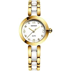 Lady ceramic watch/Fashion quartz watch/ simple waterproof watch-B