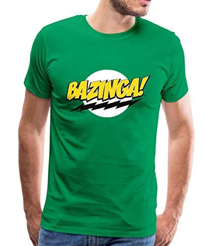 Spreadshirt The Big Bang Theory Bazinga Spruch Sheldon Männer Premium T-Shirt, L, Kelly Green -
