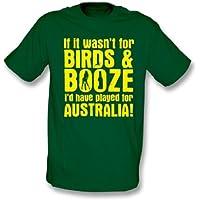 Se non fosse per la maglietta dell'Australia delle bevande e degli uccelli Xx-Grande, colori - il verde bottiglia